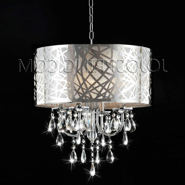 Chrome And Crystal Chandelier Within Well Known 4 Light Chrome Crystal Chandelier (View 5 of 10)