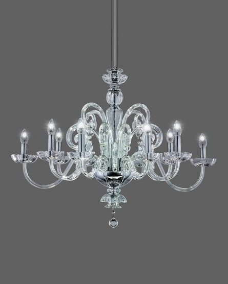 Chrome And Crystal Chandeliers With Regard To Most Current 125/rl 10 Chrome Crystal Chandelier With Swarovski Spectra Crystal (View 2 of 10)