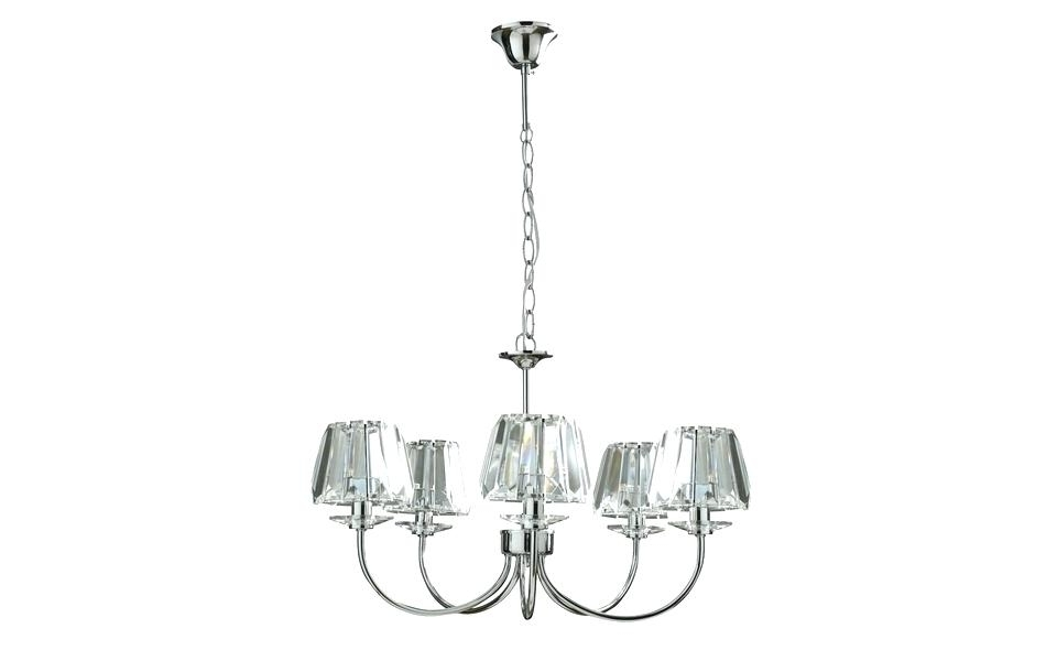 Chrome And Glass Chandelier Also Light Chandelier 5 5 Light With 2018 Chrome And Glass Chandelier (View 4 of 10)