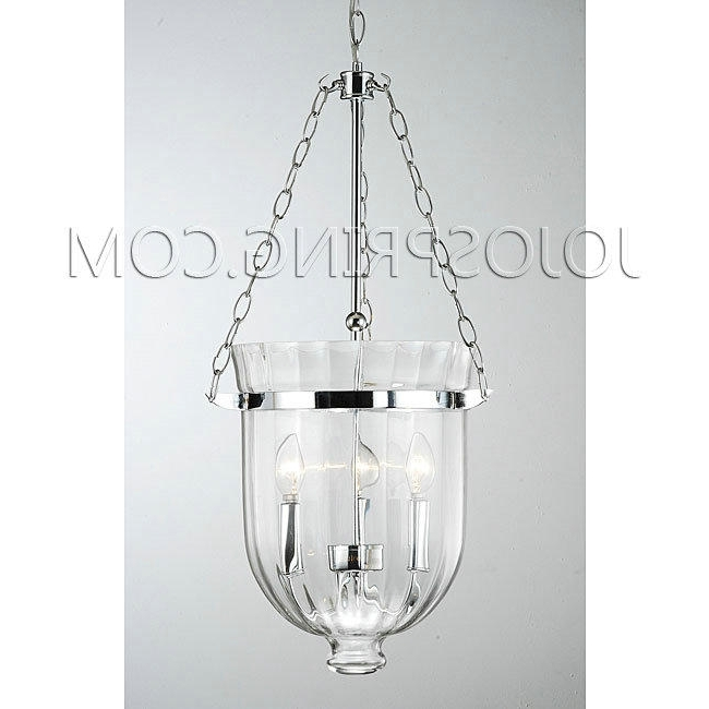 Chrome And Glass Chandelier Regarding Most Recent Chrome Finish Ribbed Glass Lantern Chandelier (View 5 of 10)