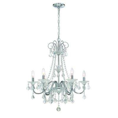 Chrome Chandeliers In Latest Chrome – Chandeliers – Lighting – The Home Depot (View 5 of 10)