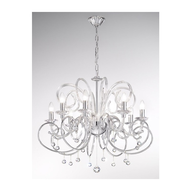 Chrome Crystal Chandelier Throughout Preferred Kolarz Foscari Crystal Chandelier Chrome 0355 88 5 Spt Free Delivery (View 3 of 10)