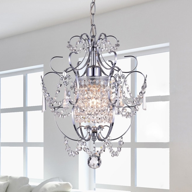 Chrome Crystal Chandelier Within Most Up To Date Chrome Crystal Chandelier – Free Shipping Today – Overstock (View 4 of 10)