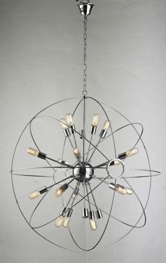 Chrome Sputnik Chandeliers Throughout Best And Newest Large Sputnik Chandelier With Chrome Finish Pertaining To Stylish (View 4 of 10)