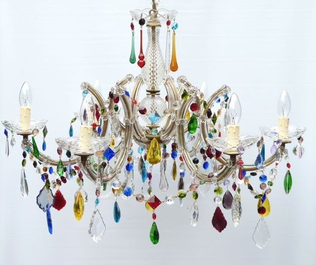 Coloured Chandeliers Inside Well Known Multi Coloured Archives – The Vintage Chandelier Company (View 2 of 10)