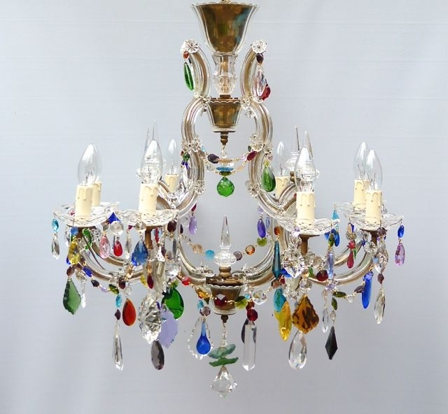 Coloured Chandeliers Intended For Widely Used The Vintage Chandelier Companymulti Coloured Archives – The Vintage (View 3 of 10)