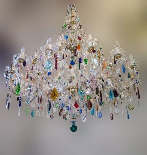 Coloured Chandeliers Regarding Well Known Best 25+ Multicoloured Chandeliers Ideas On Pinterest (View 8 of 10)