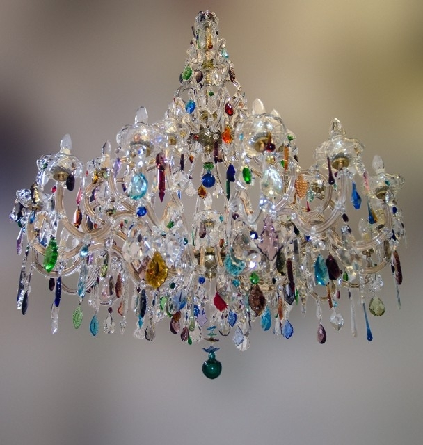 Featured Photo of Coloured Glass Chandelier