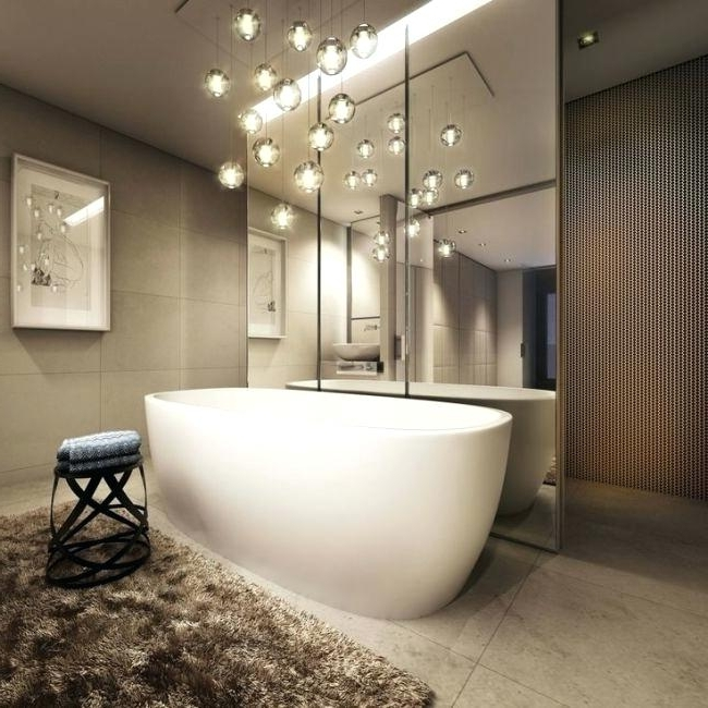 Contemporary Bathroom Chandeliers Plus Contemporary Chandelier With Regard To Favorite Modern Bathroom Chandelier Lighting (View 2 of 10)