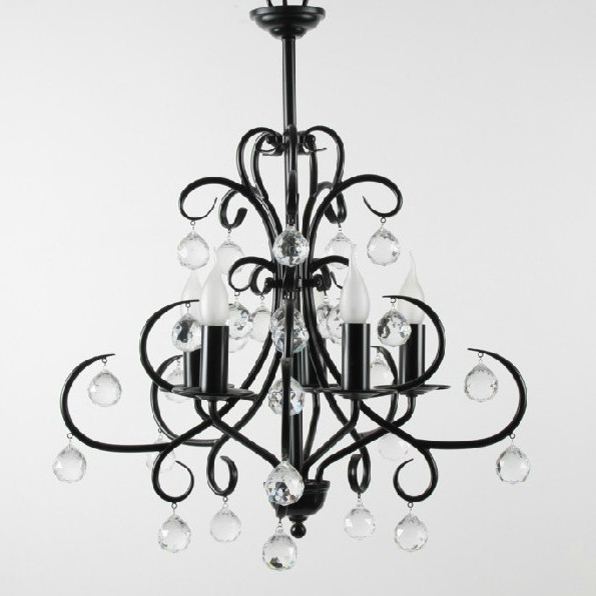 Contemporary Black Chandelier For Preferred Homeofficedecoration (View 2 of 10)