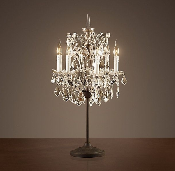 Cool Crystal Chandelier Table Lamp , Elegant Crystal Chandelier Regarding Latest Table Chandeliers (View 4 of 10)