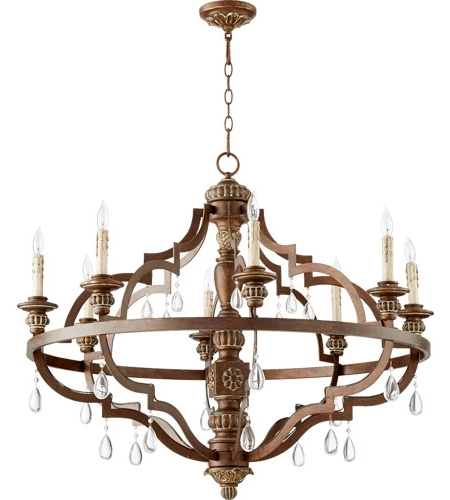 Copper Chandelier For Fashionable Quorum 645 8 39 Venice 8 Light 37 Inch Vintage Copper Chandelier (View 2 of 10)