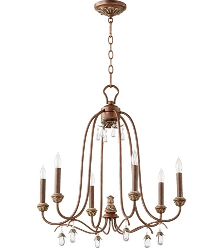 Copper Chandelier In Widely Used Quorum 6144 6 39 Venice 6 Light 25 Inch Vintage Copper Chandelier (View 3 of 10)