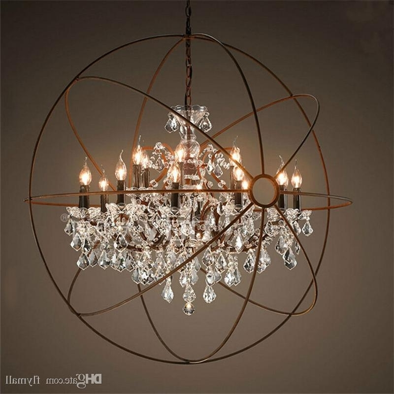 Country Hardware Vintage Orb Crystal Chandelier Lighting Rh Rustic Throughout Preferred Globe Crystal Chandelier (View 2 of 10)
