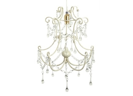 Cream Chandelier Lights Inside Famous Chella Cream Beaded Easy Fit Pendant (View 8 of 10)