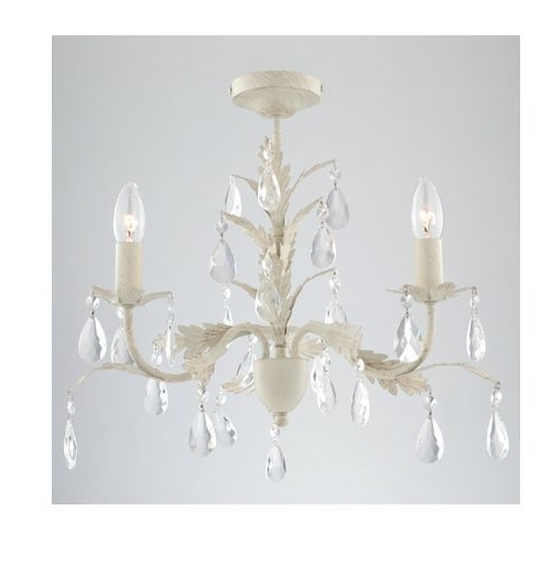 Cream Gold Chandelier Pertaining To Recent French Chateau Leaf Cream Porcelain Brushed Gold Ceiling Light Jewel (View 7 of 10)