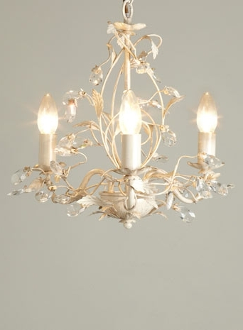 Cream Gold Chandelier With Well Known Tahlia 3 Light Chandelier – Cream Gold – Ceiling Lights – Lighting (View 3 of 10)