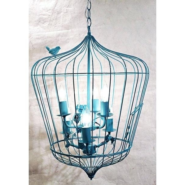 Creative Co Op Chandelier Creative Co Op Turquoise Birdcage Within 2017 Turquoise Birdcage Chandeliers (View 4 of 10)