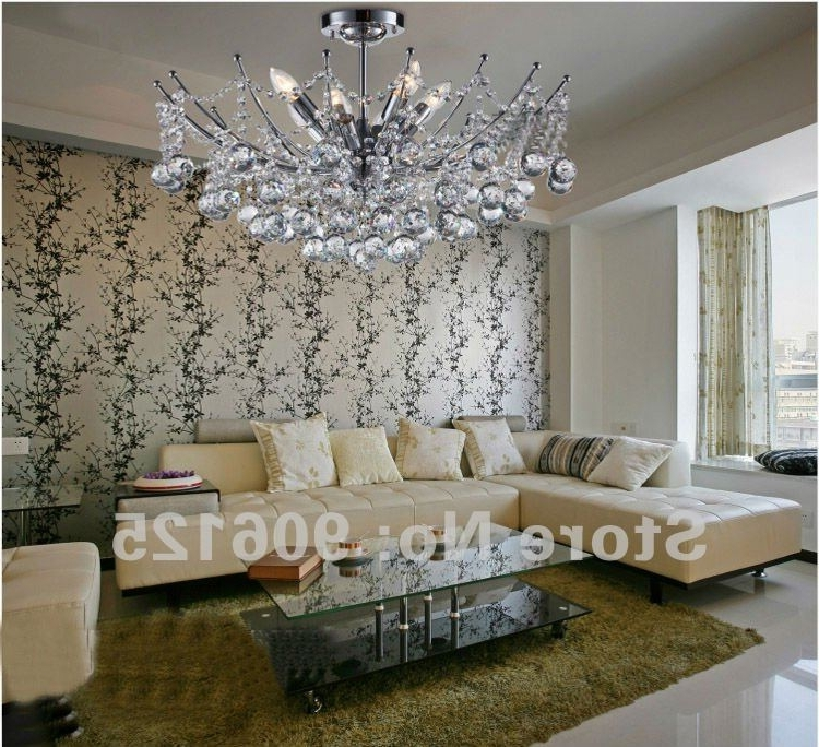 Crystal And Chrome Chandeliers Pertaining To Current Hot Selling ! Modern Crystal Chandelier Light Fixture Chrome Crystal (View 4 of 10)