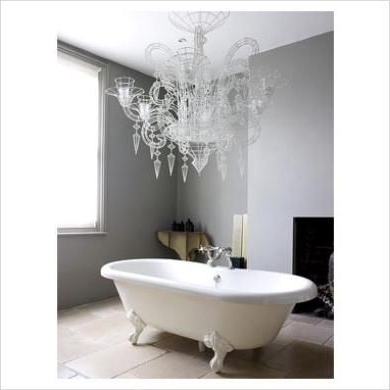 Crystal Bathroom Chandelier Within Most Current 21 Best Bathroom Chandeliers Images On Pinterest (View 5 of 10)