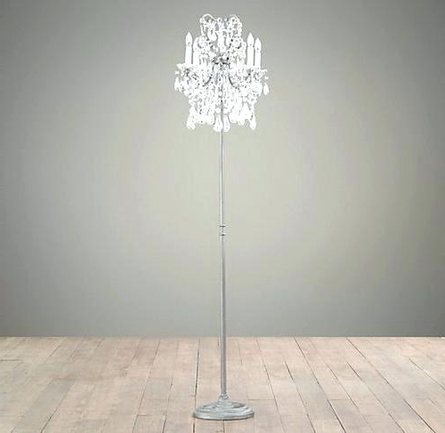 Crystal Chandelier Standing Lamps Within Best And Newest Lovely Standing Chandelier Floor Lamp For Chandelier Standing Lamp (View 4 of 10)