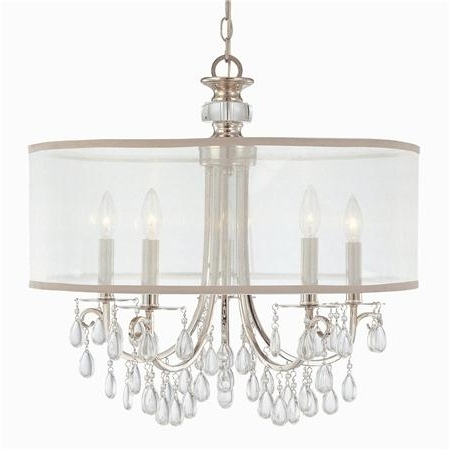 Crystal Chandelier With Drum Shade Pertaining To Idea 19 Regarding 2018 Crystal Chandeliers With Shades (View 2 of 10)