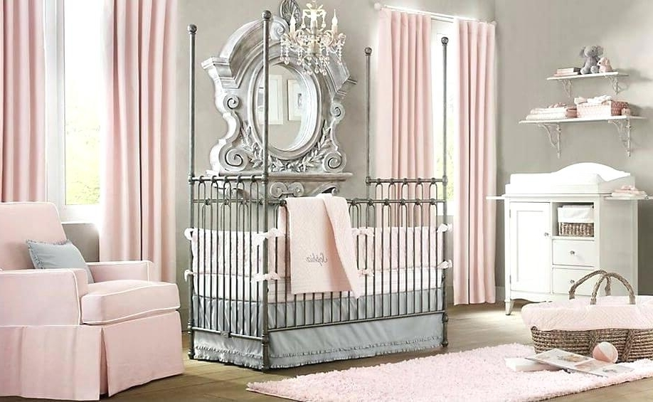 Crystal Chandeliers For Baby Girl Room Intended For Trendy Decoration: Blue Baby Girl Rooms Nursery Ideas Crystal Chandelier (View 4 of 10)