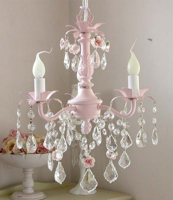 Crystal Chandeliers For Baby Girl Room Pertaining To Trendy Best 25 Pink Chandelier Ideas On Pinterest For Girls Pertaining To (View 5 of 10)