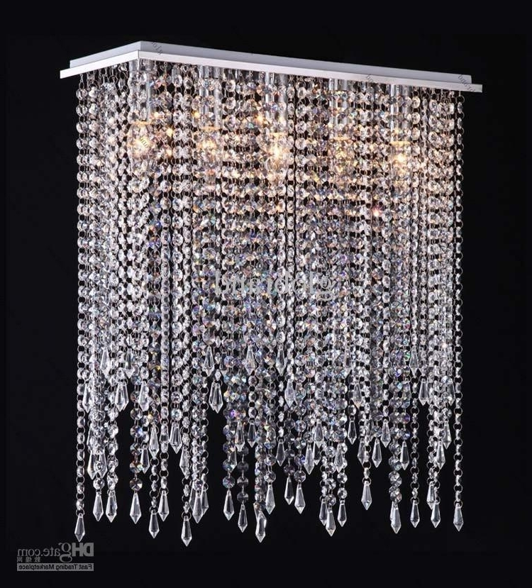 Crystal Chandeliers Intended For Well Known Modern Crystal Chandelier Lighting Crystal Drop Pendant Lamp For (View 2 of 10)