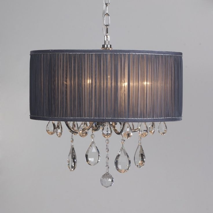 Crystal Chandeliers Pertaining To Well Liked Grey Chandeliers (View 1 of 10)