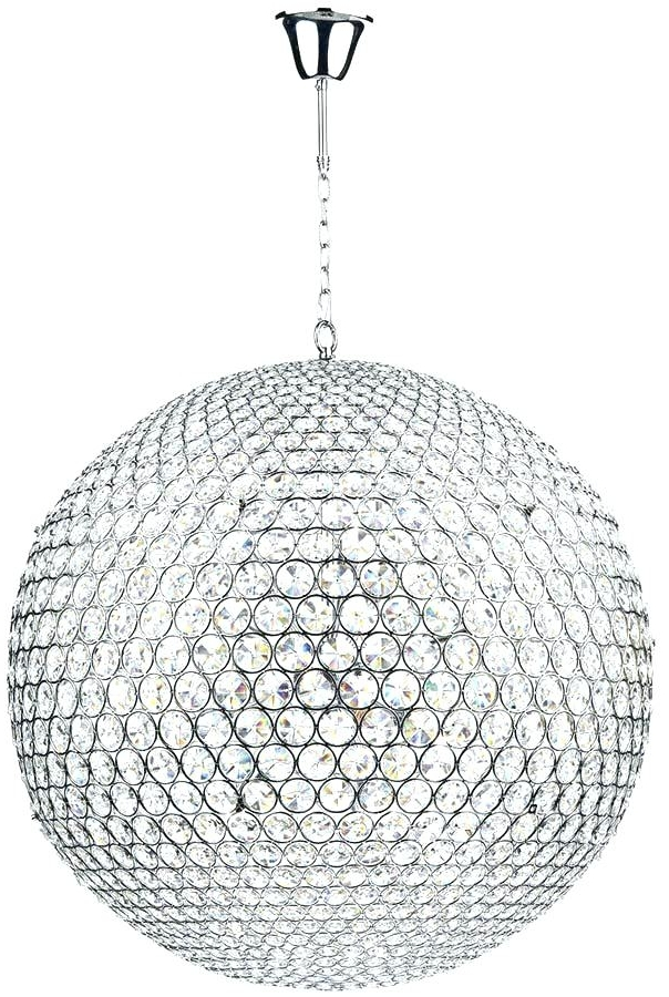 Crystal Globe Chandelier Luxury Crystal Globe Chandelier Or Fiesta With Regard To Preferred Large Globe Chandelier (View 1 of 10)