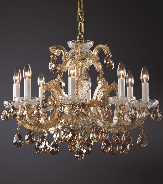 Crystal Gold Chandelier Intended For Most Recently Released Maria Theresa Chandelier And Maria Theresa Crystal Chandelier (View 4 of 10)