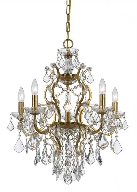 Crystal Gold Chandelier With Regard To Most Up To Date Crystorama – Crystorama Filmore 6 Light Crystal Gold Chandelier I (View 5 of 10)