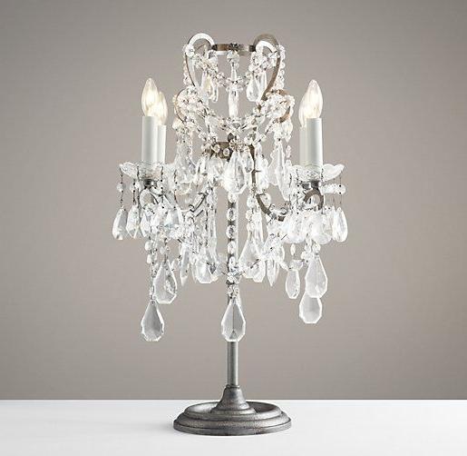 Crystal Throughout Chandelier Night Stand Lamps (View 6 of 10)