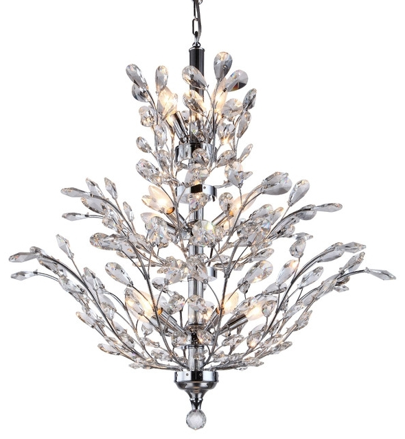 Crystal Tree Branch Chandelier Light Chrome 12 Swarovski Pertaining To Most Recently Released Crystal Branch Chandelier (View 3 of 10)