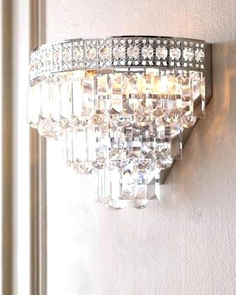 Crystal Wall Sconce Lighting Incredible Bathroom Sconce Modern Wall With Most Recent Bathroom Chandelier Wall Lights (View 5 of 10)