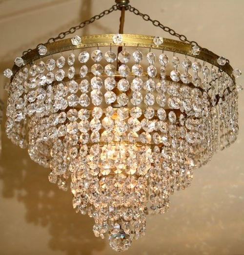 Crystal Waterfall Chandelier Regarding Most Recently Released 33 Best Crystal Chandelier Images On Pinterest (View 6 of 10)