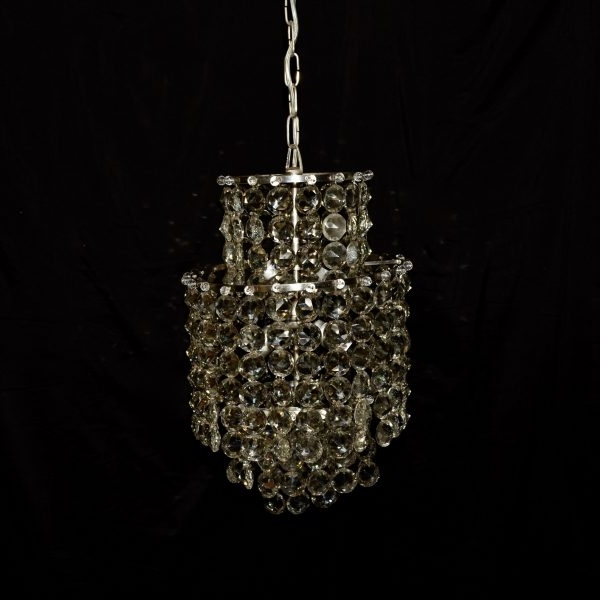 Crystal Waterfall Chandelier Within Preferred 6 Lights Chromed Crystal Waterfall Chandelier C (View 7 of 10)