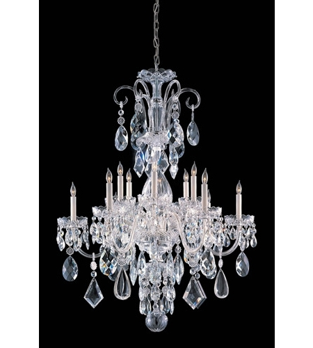 Crystorama 1045 Ch Cl Mwp Traditional Crystal 12 Light 32 Inch Pertaining To Newest Crystal Chrome Chandelier (View 4 of 10)