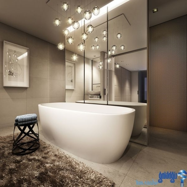 Current Bathroom Lighting With Matching Chandeliers Intended For 30 Lovely Chandeliers In Bathrooms – Light And Lighting (View 6 of 10)