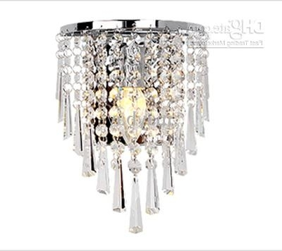 Current Chandelier Wall Lights Within 2018 85 265v Wall Lamp Crystal Chandelier Free With A 3w E14 Led (View 7 of 10)