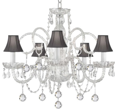 Current Chandelier With Shades Contemporary The Gallery Crystal Large Shade Pertaining To Chandelier With Shades And Crystals (View 6 of 10)
