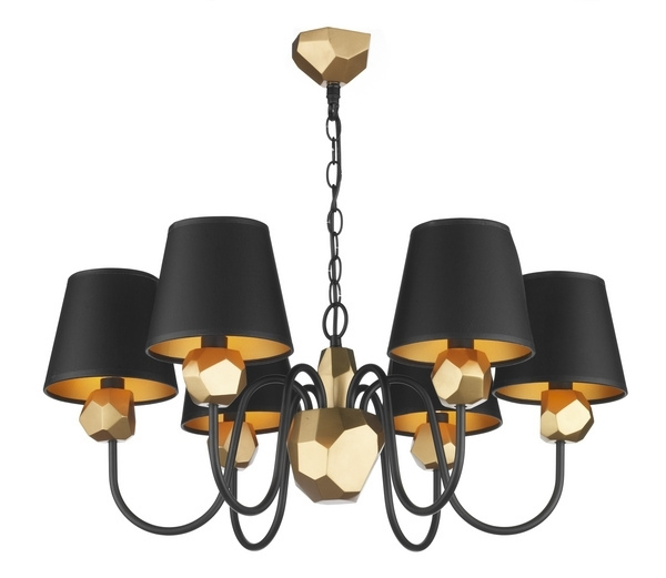 Current Chandeliers With Black Shades In Plush Black Shade Double Crystal Chandelier Shaded Linen Set Of  (View 5 of 10)