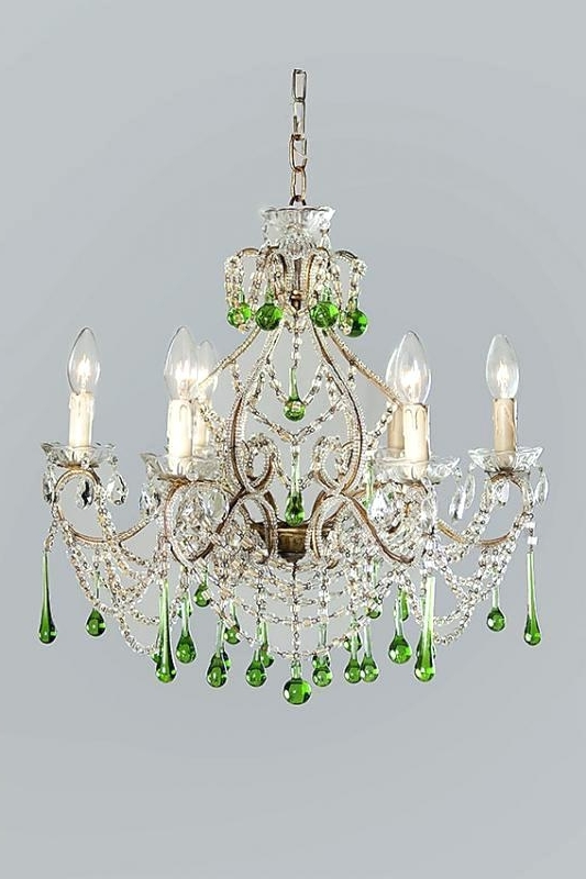 Current Coloured Chandeliers Throughout Modern Multi Coloured Ceiling Chandelier Great For Girls Bedroom (View 5 of 10)