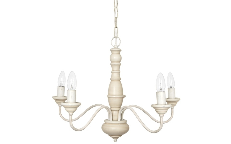 Current Cream Chandelier Lights Pertaining To Milnsbridge Cream 5 Light Chandelier (View 4 of 10)