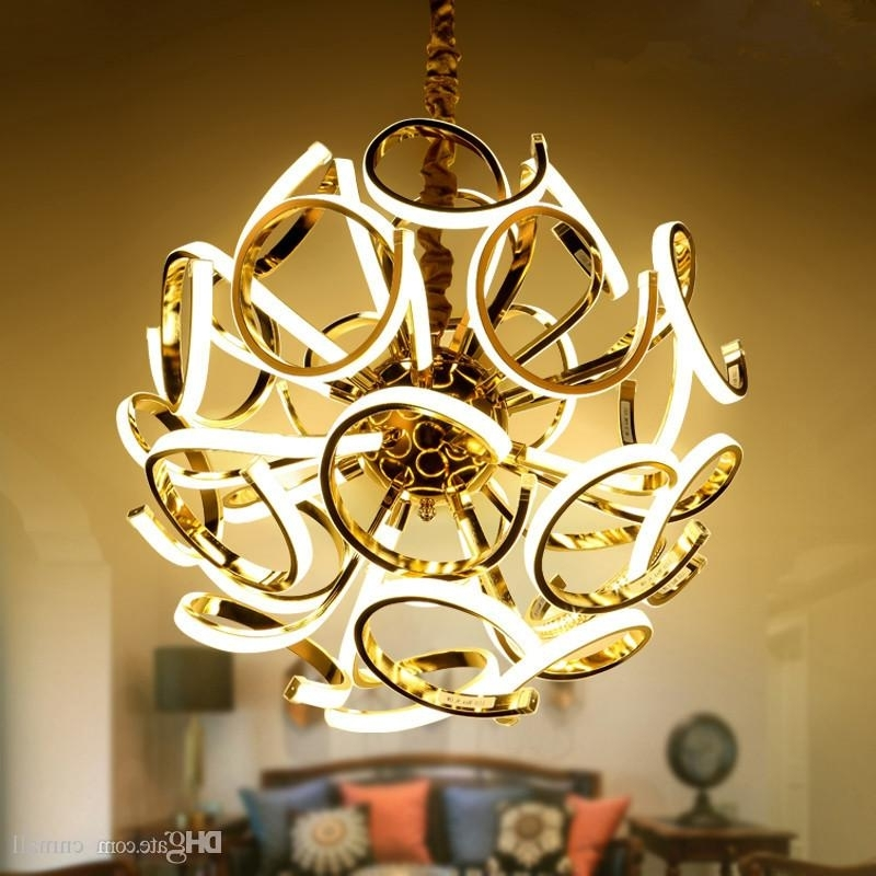 Current Creative Spherical Chandelier New Design Modern Led Chandelier Lamp Regarding Modern Led Chandelier (View 1 of 10)