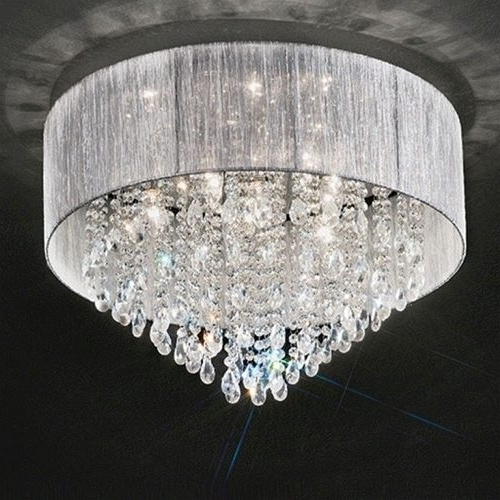 Current Flush Chandelier Ceiling Lights Within Royale Crystal Flush Ceiling Light Fl2281/ (View 1 of 10)