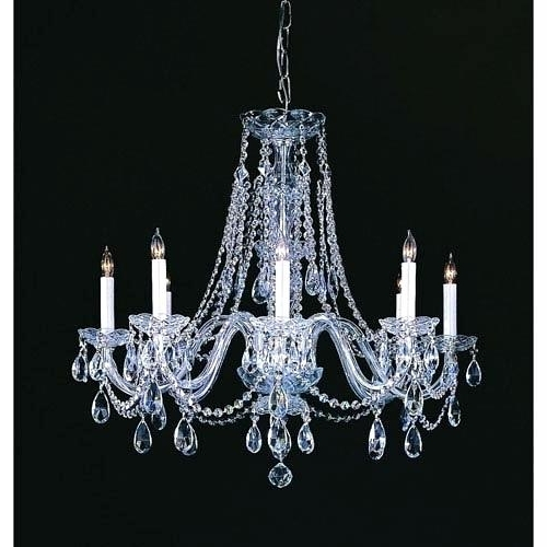 Current Lead Crystal Chandeliers Throughout Lead Crystal Chandeliers S Vintage Chandelier – Boscocafe (View 2 of 10)