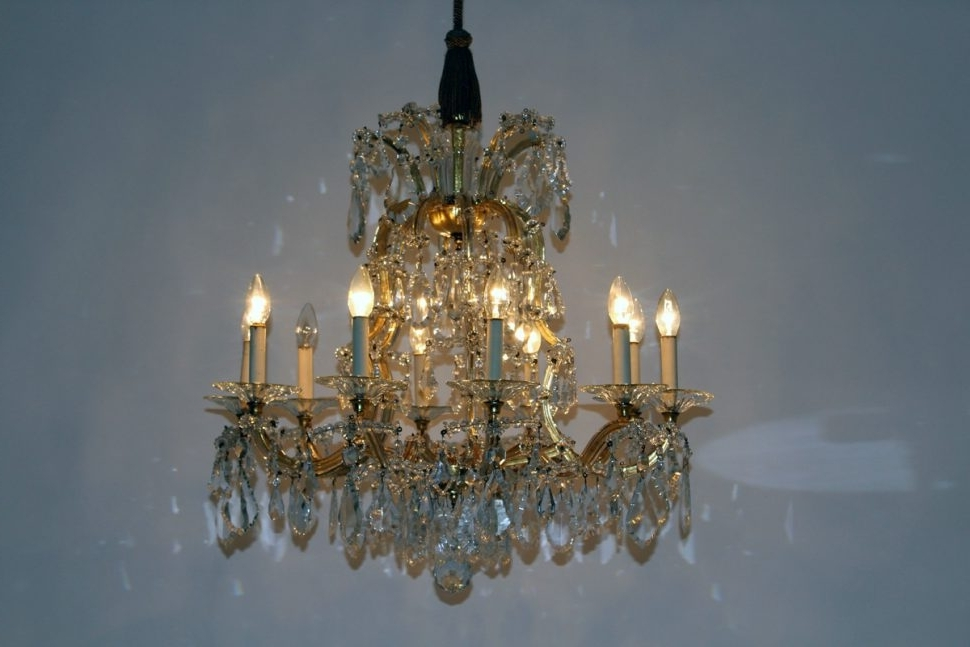 Current Lighting : Modern Glass Chandelier Lighting Crystal Dining Room Intended For Giant Chandeliers (View 1 of 10)