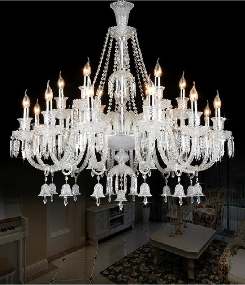 Current Luxury Large Modern Crystal Chandelier Lights Glass Arms Candle Inside Large Glass Chandelier (View 5 of 10)